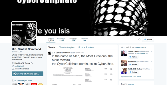 ISIS HACK US COMMAND